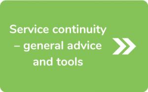Button to go to Service continuity – general advice and tools page